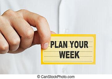 semaine, plan, ton