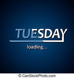 semaine, rigolote, chargement, basé, inscription, mardi, -, ...