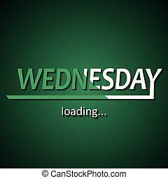semaine, rigolote, chargement, basé, inscription, -, ...