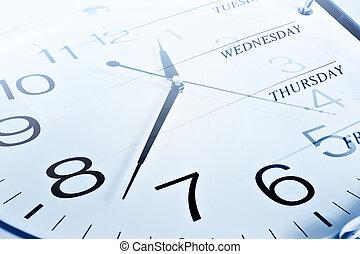 semana, días, reloj