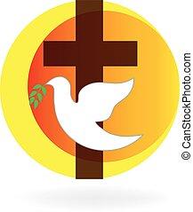 semana santa, paloma, y, cruz