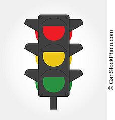 semaphore design over white background vector illustration
