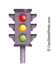 semaphore - colored illustration of a semaphore