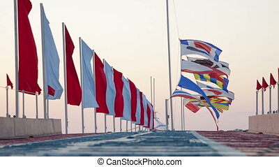 Semaphore flags marine
