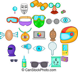 Semblance icons set. Cartoon set of 25 semblance vector icons for web isolated on white background