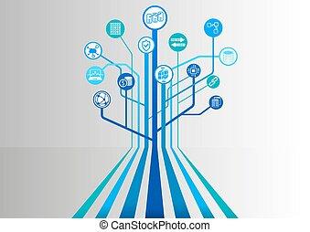 semelhante, ícones, base dados, distributed, blockchain,...