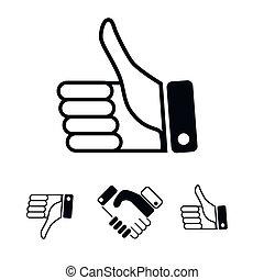 semelhante, ícones