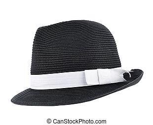 semelhante, chapéu, isolado, fedora