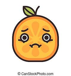 semelhante, -, isolado, triste, vector., laranja, crying.,...