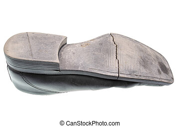 semelle, vieille chaussure