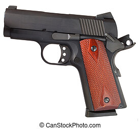 Semi auto handgun - Small black handgun that is isolated on...