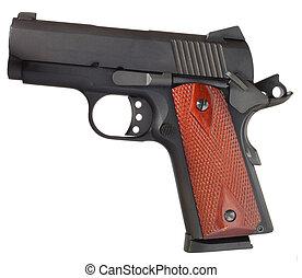 Semi auto handgun - Small black handgun that is isolated on...