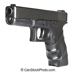 Semi-automatic handgun - Isolated semi-automatic handgun