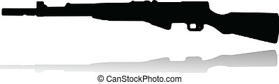 semi automatic rifle vector illustration