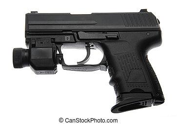 Semi Automatic - Semi-Automatic Pistol With Tactical Night ...