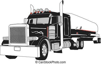 semi, camion autocisterna