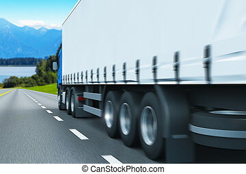 semi-camion, autoroute