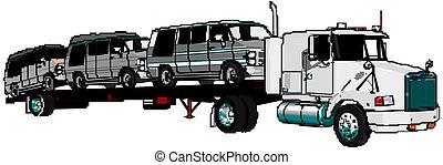 semi-camion, vecteur
