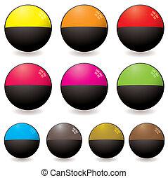 semi circular web icon