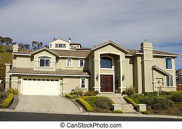 semi-Custom hillside executive home in Northern California