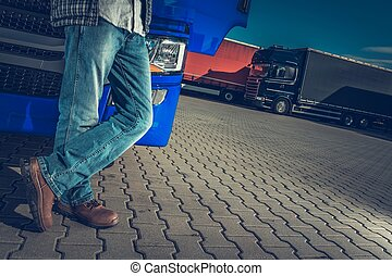 Semi Driver and the Truck Stop