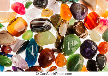 Semi Precious Gem Stones - Assortment of polished...