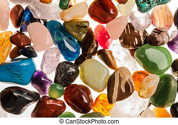 Semi Precious Gem Stones - Assortment of polished...