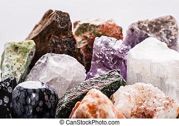 semi-precious gems macro