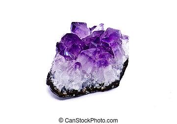 Semi-precious stone Amethyst