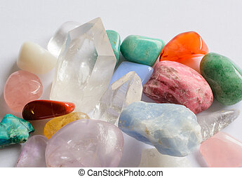 Semi-precious stones - Collection of semi-precious stones...
