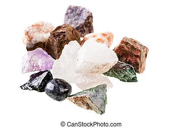 Semi-precious stones heap