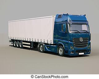 semi-remorque, camion