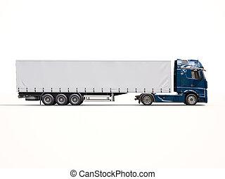 Semi remorque camion semi remorque blanc camion dessin - Dessin de camion semi remorque ...