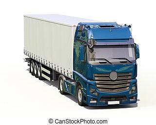 Semi remorque camion d taill semi remorque - Dessin de camion semi remorque ...