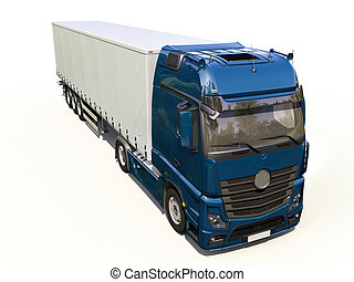 Bleu semi remorque camion illustration illustration de - Dessin de camion semi remorque ...