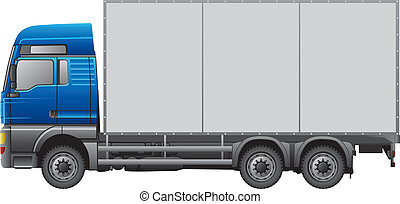 Semi-Trailer Truck - Semi-trailer truck isolated on white