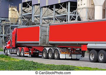 semi transportera