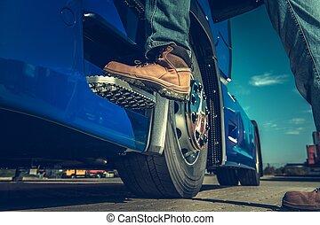 Semi Truck Driver Concept