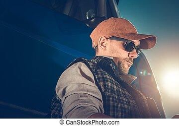 Semi Truck Driver Portrait