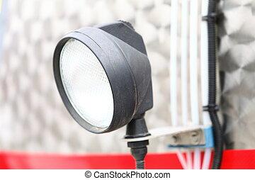 Semi Truck Headlight Detail
