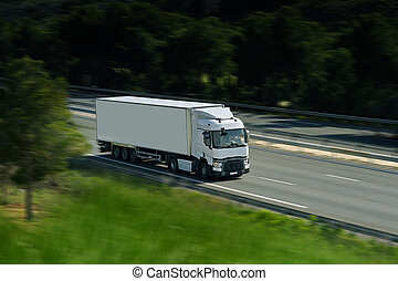 semi truck on road