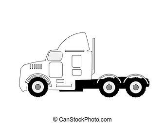 semi truck silhouette - large semi truck silhouette...