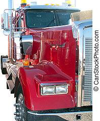 Semi truck tractor, Isolated