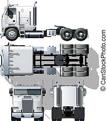 semi-vrachtwagen