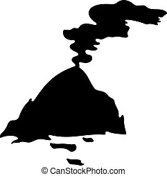 Semiactive volcano, shade picture
