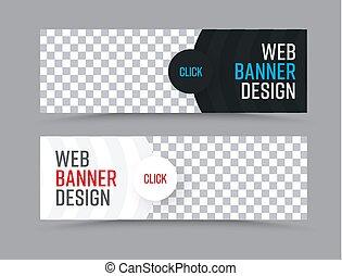semicirc, web, forma, foto, bandiere, orizzontale, posto, disegno