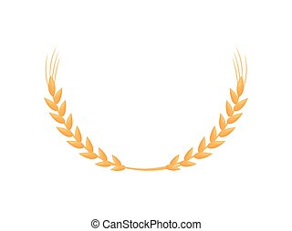 Semicircle of ears of corn. Vector illustration on white background.