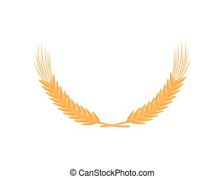 Semicircle of ripe wheat. Vector illustration on white background.