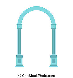Semicircular arch icon, flat style