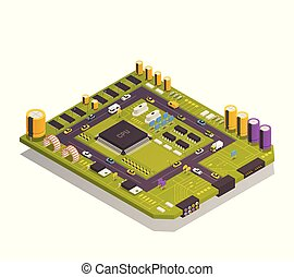 Semiconductor Electronic Components Isometric